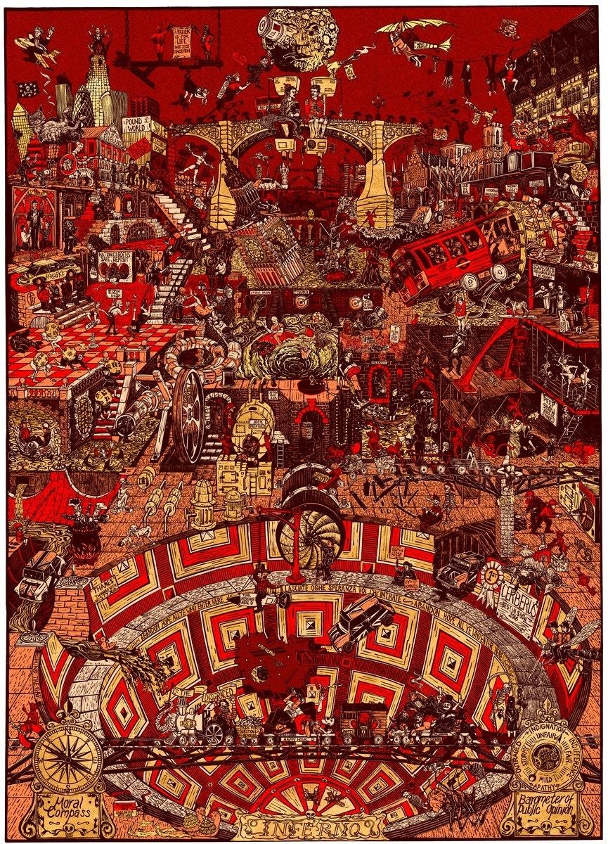 Inferno - 180 x 130.5cm